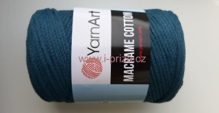 Macrame Cotton 789, petrolejová