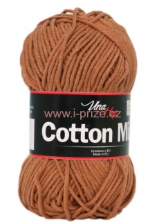 Cotton mix 8218, hnědá